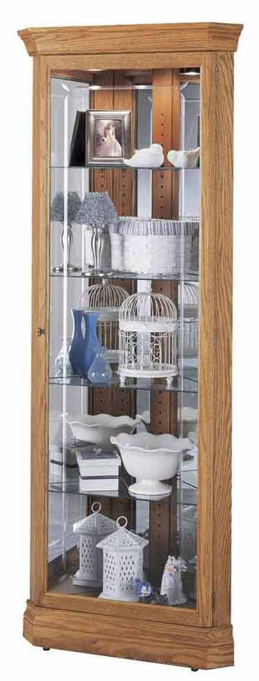 Howard Miller Hammond 680-347 Oak Corner Curio Cabinet
