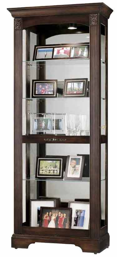 Howard Miller Ricardo 680-420 Cherry Curio Cabinet