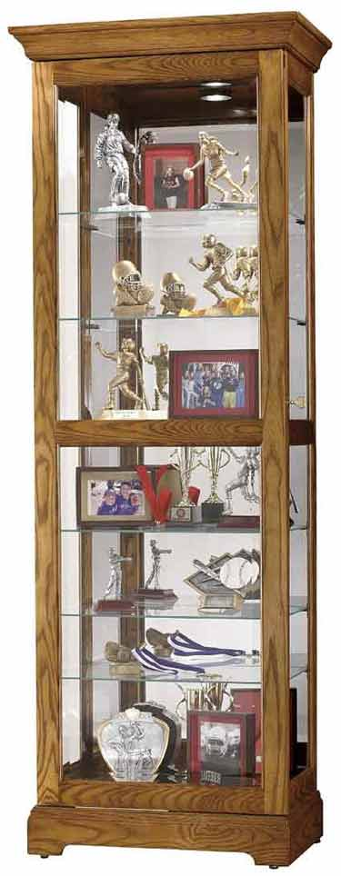 Howard Miller Moorland 680-471 Oak Curio Cabinet