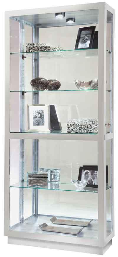 Howard Miller Jayden II 680-576 Silver Finish Curio Cabinet