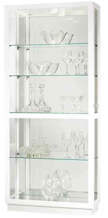 Howard Miller Jayden IV 680-574 Polished White Curio Cabinet