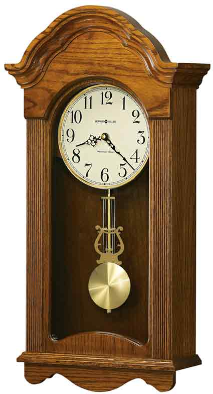 Howard Miller Jayla 625-467 Quartz Oak Chiming Wall Clock