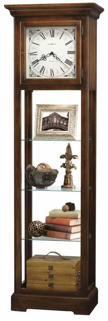Howard Miller LeRose 611-148 Quartz Curio Grandfather Clock