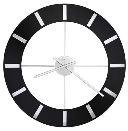 Howard Miller Onyx 625-602 Large Contemporary Wall Clock