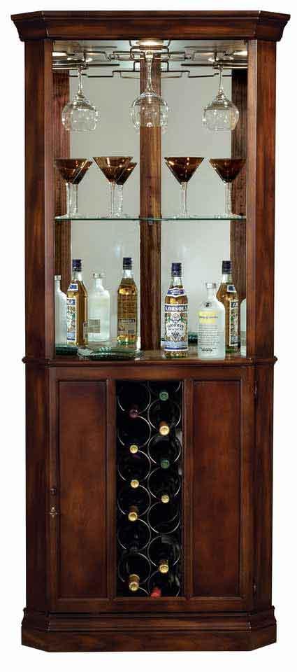 Howard Miller Piedmont 690 000 Corner Wine Cabinet