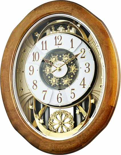 Rhythm 4MH420WU06 Joyful Anthology Musical Wall Clock