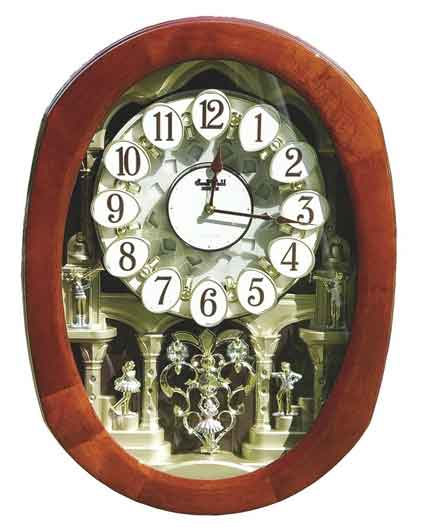 Rhythm 4MH407WU06 Grand Encore II Musical Clock