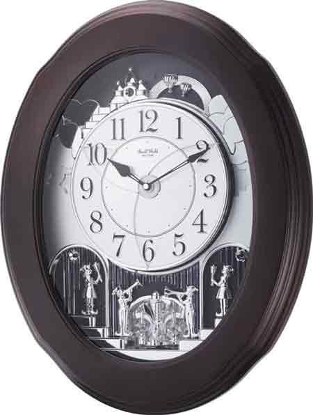 Rhythm 4MH871WU06 Nostalgia Espresso Wall Clock