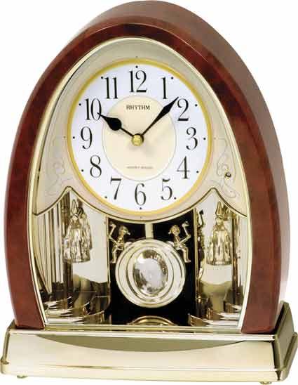 Rhythm 4RJ636WD23 Joyful Crystal Bells Musical Table Clock