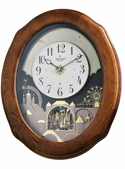 Rhythm 4MH419WU06 Joyful Timecracker Oak Musical Clock
