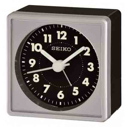 Seiko QHE083SLH Travel Alarm Clock