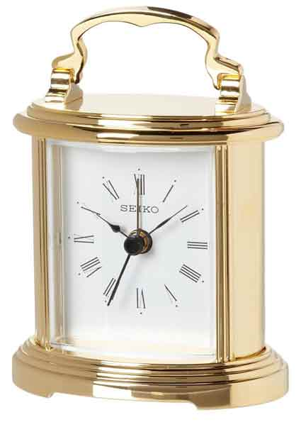 Seiko QHE109GLH-X Carriage Clock