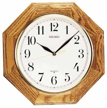 Seiko QXA102BC Quartz Oak Wall Clock