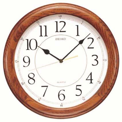 Seiko QXA129BLH Yorkton Wooden Wall Clock