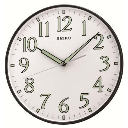 Seiko QXA521KLH Luminous Hands Wall Clock