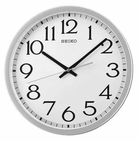 Seiko QXA711SLH Aluminum Quiet-Sweep Wall Clock