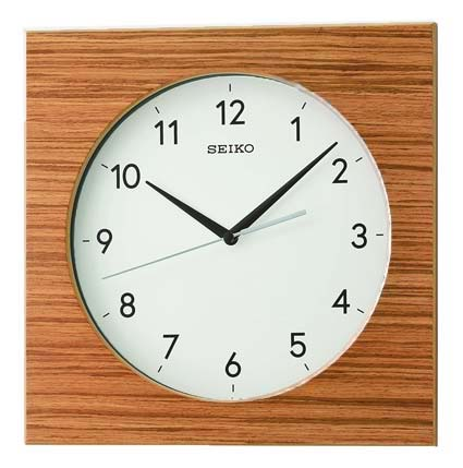 Seiko QXA766BLH Modern Square Wall Clock