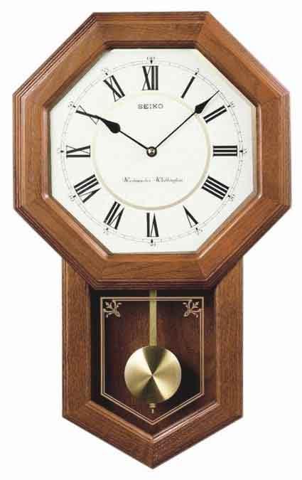 Seiko QXH110BLH Chiming Schoolhouse Clock
