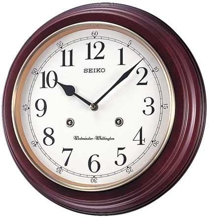 Seiko Qxh202zlh Chiming Traditional Wall Clock The Clock
