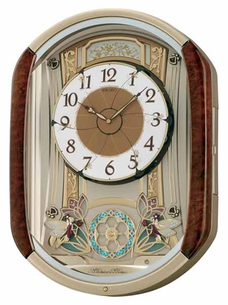 Seiko Qxm275brh Melodies In Motion Clock The Clock Depot