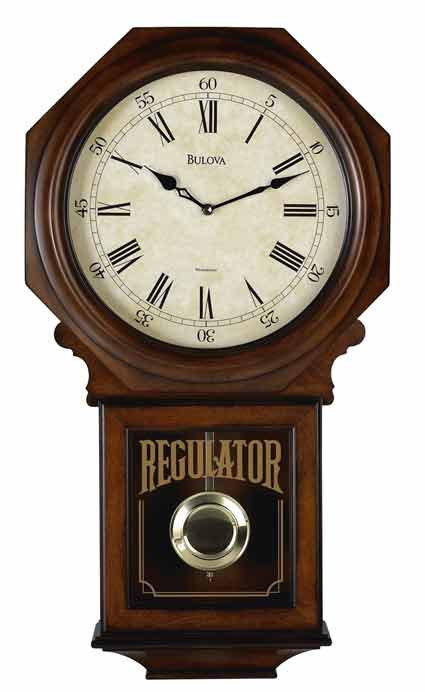 Bulova C3543 Ashford Ii Regulator Chiming Wall Clock Gtb6522