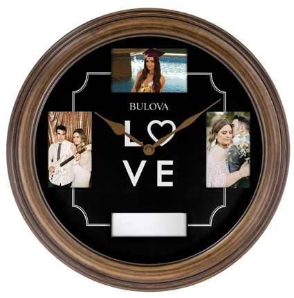 Bulova C4862 Keepsake Photoframe Wall Clock