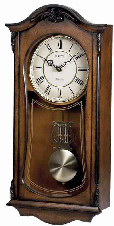 Bulova C3542 Cranbrook II Chiming Wall Clock