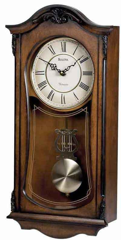 bulova c3542 cranbrook ii pendulum wall clock the clock