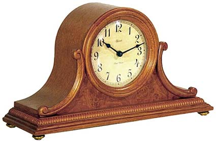 Hermle Augustine 21132-i9Q Oak Chiming Mantel Clock