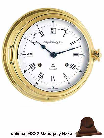 Hermle 35065-000132 Captain's Keywound Ships Bell Clock