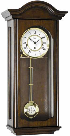 Hermle Brooke 70815-Q10341 Walnut Keywound Wall Clock