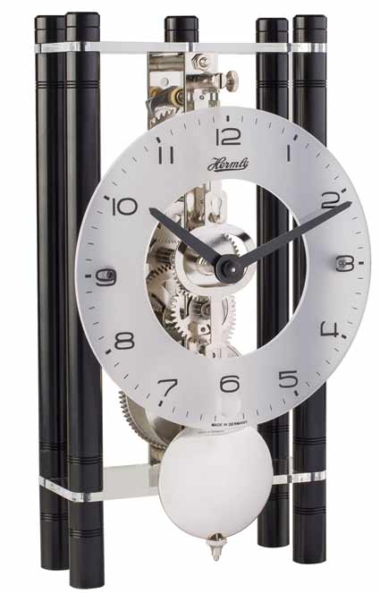 Hermle Mikal BK 23021-740721 Black Keywound Table Clock