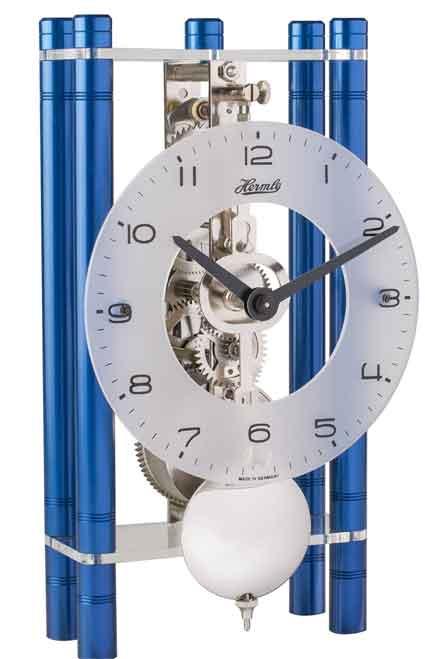 Hermle Mikal BL 23021-Q70721 Blue Keywound Table Clock