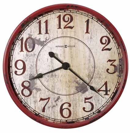 large rustic wall clock Howard Miller Back 40 625 598 Rustic Wall Clock   The Clock Depot large rustic wall clock