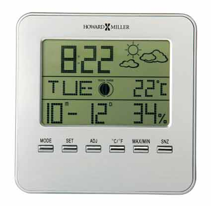 Howard Miller Weather View 645-693 LCD Weather Clock