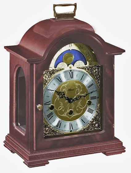 Hermle Debden 22864-070340 Keywound Mahogany Mantel Clock