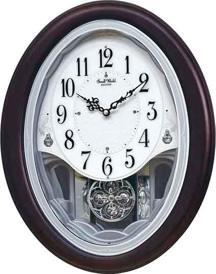 Rhythm 4MJ439WU06 Crystal Delight Musical Clock