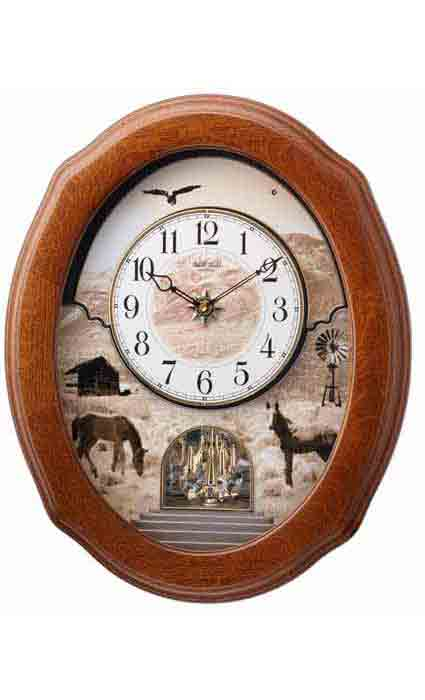 Rhythm 4MH418WU06 Joyful Prairie Musical Clock