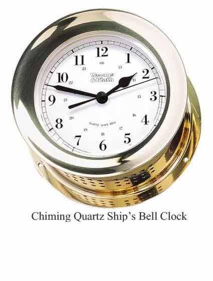 Weems and Plath 200100 Atlantis Quartz Ships Bell Clock