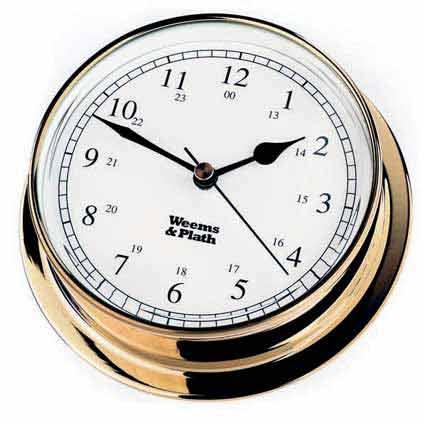 Weems and Plath 530500 Brass Endurance 125 Clock