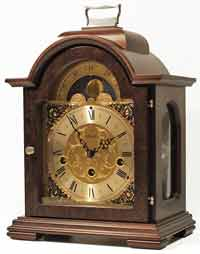 Hermle Debden 22864-030340  Keywound Walnut Mantel Clock
