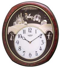 Rhythm 4MH862WU23 Princess Fantasy Musical Clock