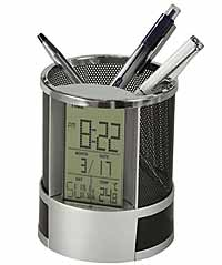Howard Miller Desk Mate 645-759 Desk Organizer Clock