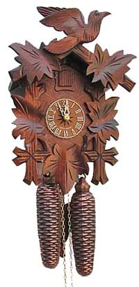"Traditional 12"" Eight Day Black Forest Cuckoo Clock"