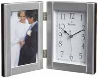 Bulova B1275 Forte II Photo Frame Desk and Table Clock