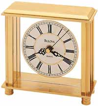 Bulova B1703 Cheryl Brass Table Clock