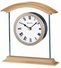 Bulova B1711 Bristol Metal and Glass Desk Clock
