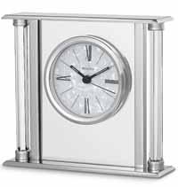 Bulova B2454 Pearl Table Clock