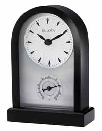 Bulova B5007-W Madison Wood Contemporary Desk Clock