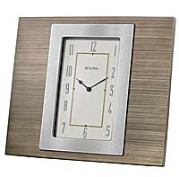Bulova B1237 Brockton Desktop Clock